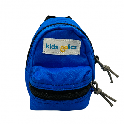 Mini Blue Backpack Front